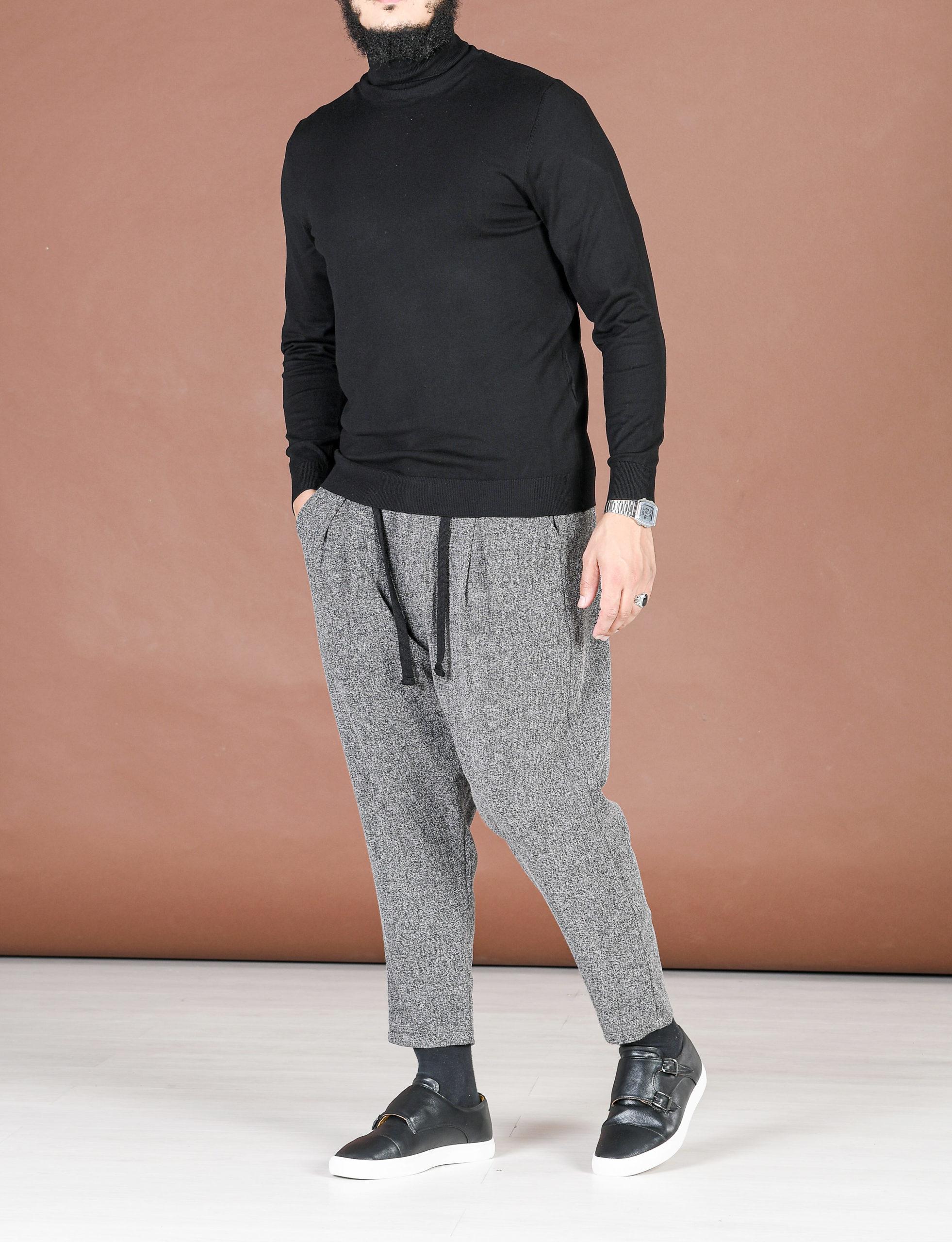 Pantalon pince en tweed