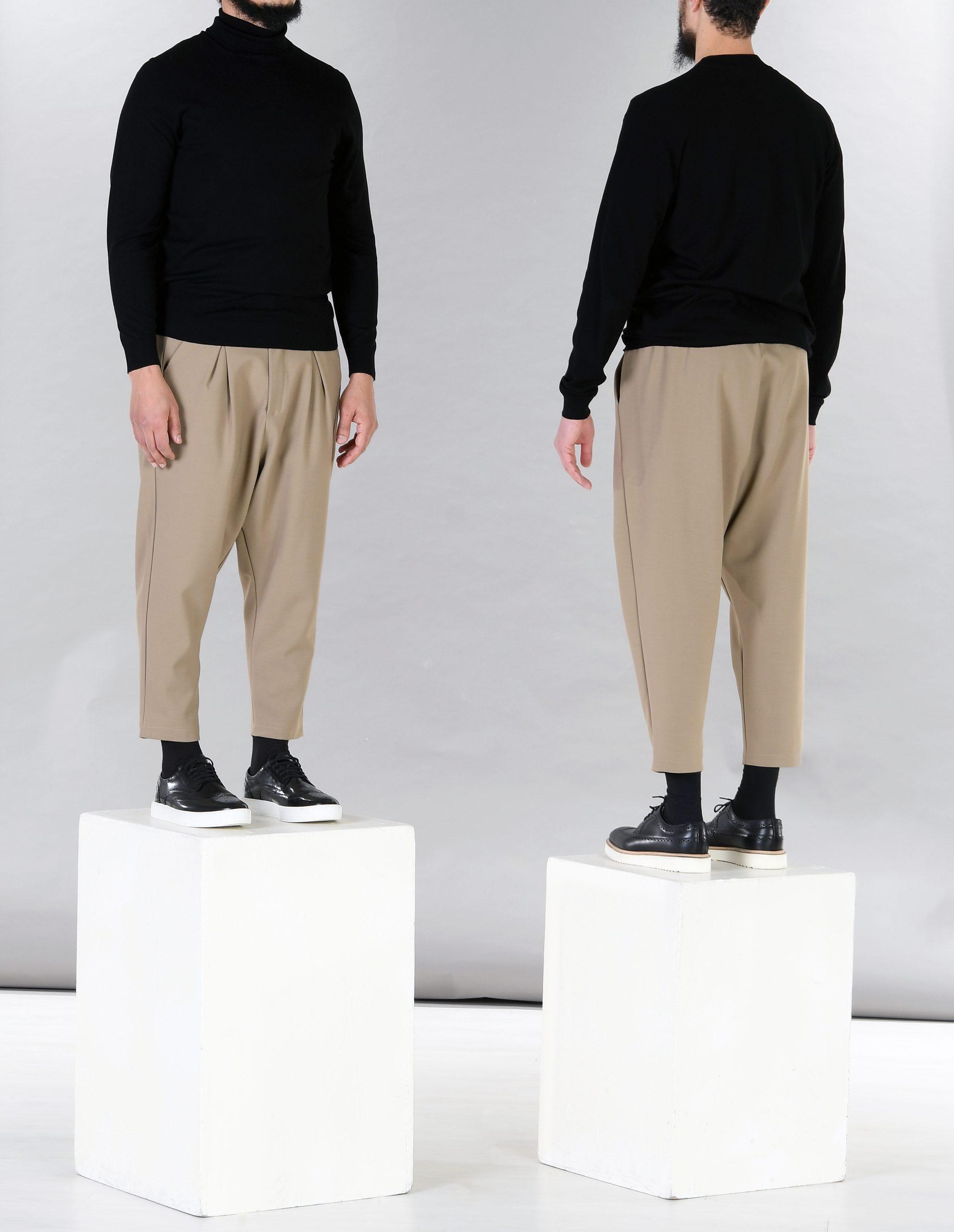 pantalon large à pinces